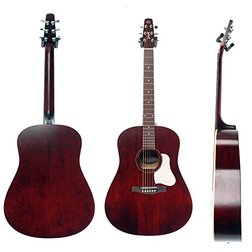 Red Bone Guitars - Seagull S6 Original Acoustic Guitar Limited Edition Tennessee Red with Bag