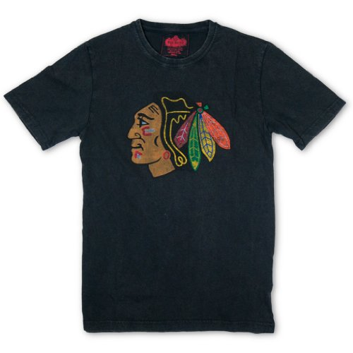 Nhl chicago blackhawks retro vintage design t shirt xl for Vintage blackhawks t shirt