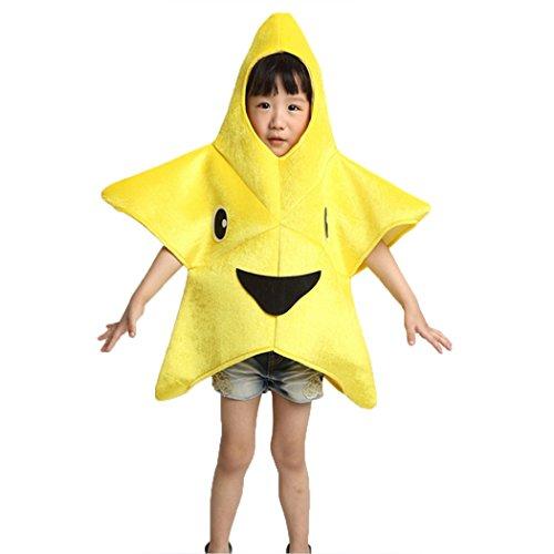 bbpawing Halloween Unisex Yellow Starfish Stars Dancewear Cartoon Modeling Costume
