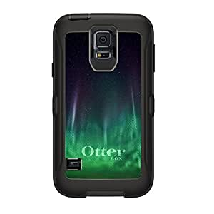 CUSTOM Black OtterBox Defender Series Case for Samsung Galaxy S5 - Aurora Borealis Northern Lights