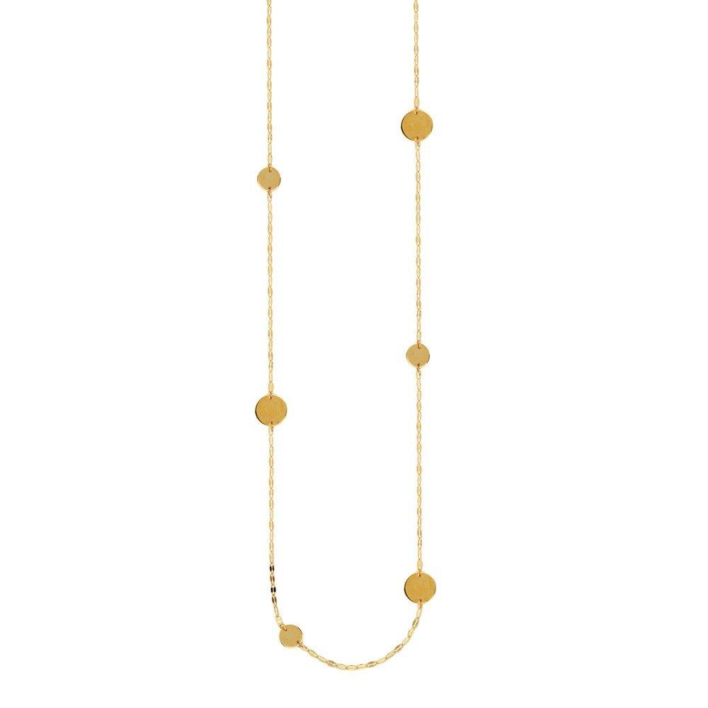 14 ct Gelb Gold Gehämmert Forzentina und Disc, Halskette –  91