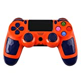 ZFY Z01 Wireless PS4 Controller, Wireless Bluetooth Gamepad Joystick Controller for Playstation 4 with Charger Cable for PS4 (Orange)