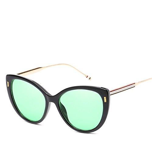 RinV Gafas Metal para Parasol Moda De Gato Sol Gafas Mujer NO4 No3 De De Tendencias Europeas Espejo Gafas Sol Ojo rrwFCqZ7