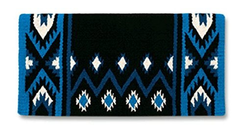 Mayatex New Phoenix Saddle Blanket, Black/Ash/Cream, 38 x 34-Inch Mayatex Inc. 1431-8