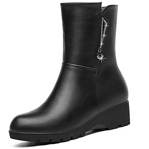 KHSKX-Stiefel Erhöhten Im Herbst Und Winter Boots Die Stiefel Schuhe Mit Martin Forty-one
