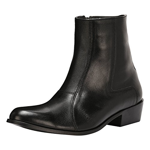 Liberty Men's Side Zipper Ankle Boots Genuine Leather Formal Dress Shoes Black - Leather Formal Ankle Boot