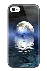 High Grade Flexible Tpu Case For Iphone 4/4s Dolphins