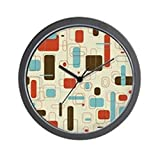 CafePress – Mid Century Modern Art – Unique Decorative 10″ Wall Clock For Sale
