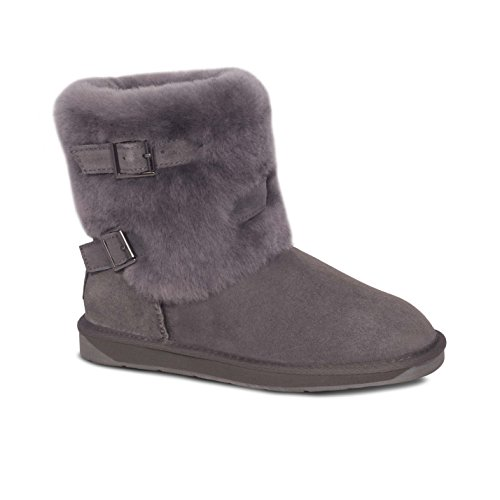 acd6591a94b91 Cloud Nine Ladies Sheepskin 2 Buckle Boots by RJs Fuzzies/Cloud Nine in  Chestnut and
