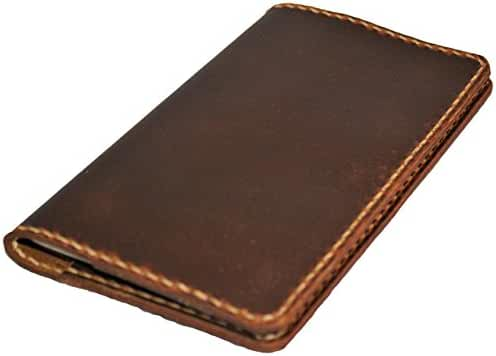 JP Leathercraft Handmade Leather Case Cover Simple Field Notes Moleskine Thoroughbred Sunset Oil Tan