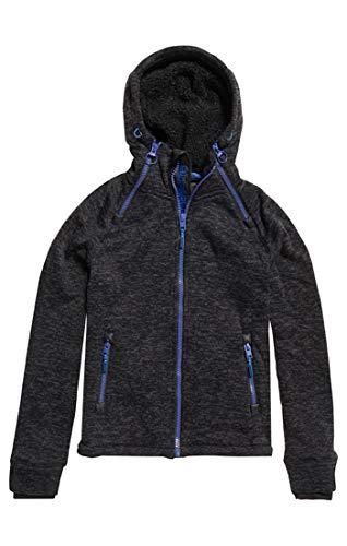 Granite black Double Storm Noir Homme Gj9 Ziphood Marl Superdry shirt Sweat Paqxx8