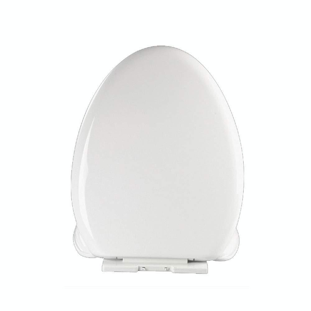 Universal Toilettensitz Grünieft Toilettendeckel Antibakteriell Dick Weiß,45.8cm36cm