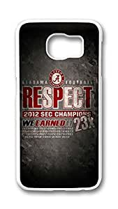 Samsung Galaxy S6 Case,Logo Series Customize Ultra Slim Sports Respect Hard Plastic PC White Case Bumper Cover for S6