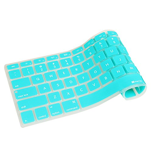 Fintie [Slim] Keyboard Cover Silicone Skin for MacBook Pro 13'' 15'' 17'' (with or Without Retina Display) MacBook Air 13'' and iMac Wireless Apple Keyboard, Turquoise