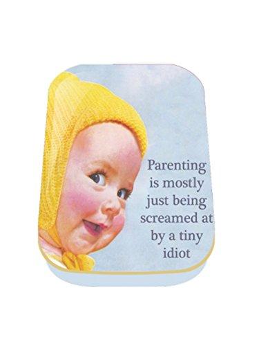 Retro Humour 1/2 oz Timeless Tin 'Parenting Is Mostly' Keepsake Trinket Pill Box