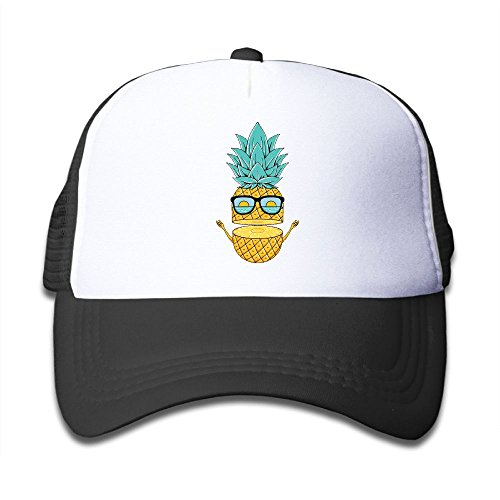 Giekk Pineapple with Sunglasses.Baseball Cap Adjustable Trucker for Children's Grid Cap