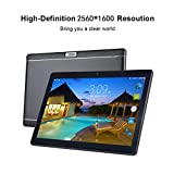 Android Cell Phone Tablet 10 inch 16 G RAM Two CORE + Two Sim Card Slots + Dual Camera Tablet Computer PC with WiFi Bluetooth GPS WiFi Tablet (Black)