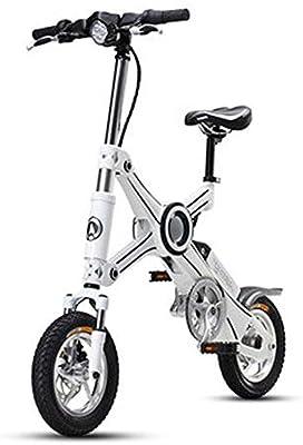 Bicicleta Eléctrica Plegable para Adultos 12 Pulgadas, Batería De Litio 36V 250W Batería Eléctrica Plegable Inteligente Masculina Y Femenina
