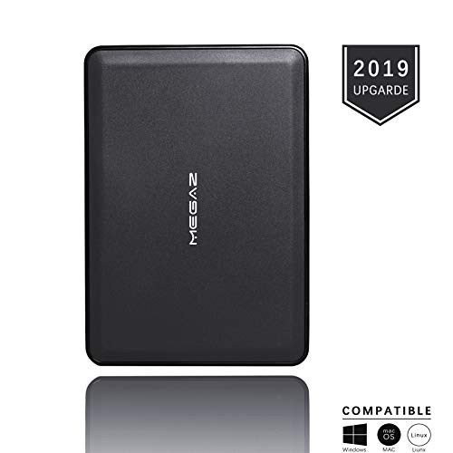 External Hard Drive 500GB - MegaZ Backup Slim Portable HDD USB 3.0 for PC, Mac, Laptop, PS4, Xbox one, Chromebook and Smart TV