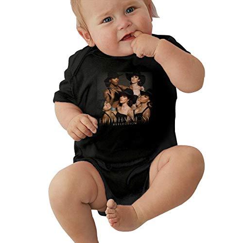 Fifth Harmony Design Black Short Sleeve Baby Creeping Suit 0-3M