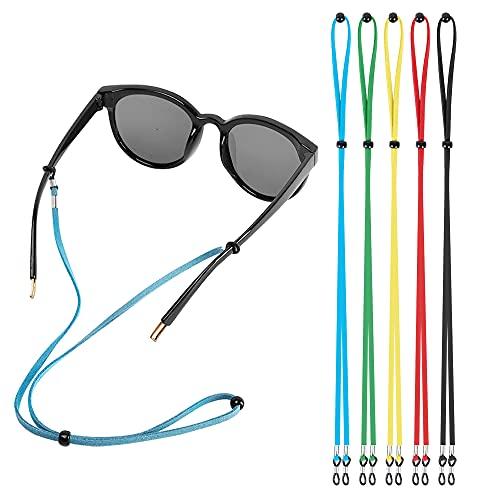 5PCS Eyeglasses Holder Straps Cord, AugLifers Sunglasses Strap Adjustment for Men Women, Sports Eyewear Retainer Lanyards