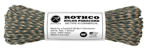 50' 550 Lb Type (Rothco Type III Commercial Paracord (Camo, 550-Pound/50-Feet))