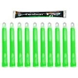 "Cyalume ChemLight Military Grade Chemical Light Sticks, Green, 6"" Long, 12 Hour Duration (Pack of 10)"