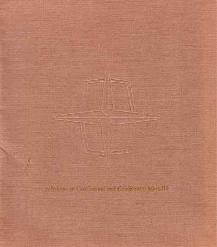 1970 Lincoln Continental Mark Ill Sales Brochure Literature Piece Advertisement