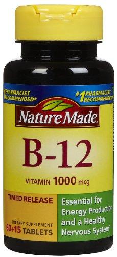 Nature Made Vitamine B-12 caplets à libération lente - 1000 mg - 75 comprimés
