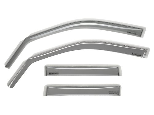 WeatherTech Custom Fit Front & Rear Side Window Deflectors for Chrysler PT Cruiser, Light Smoke