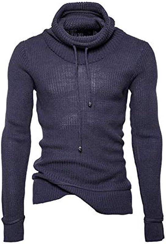 Męski sweter z dzianiny kołnierz szalunkowy Slim Winter jesień Fit sweter długi rękaw Modernas swobodny sweter z dzianiny normalny lakier dziany sweter: Odzież