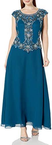 J Kara Women`s Cap Sleeve Long Beaded Dress / J Kara Women`s Cap Sleeve Long Beaded Dress