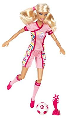 Barbie I Can Be Team Barbie Soccer Champion Doll from Mattel