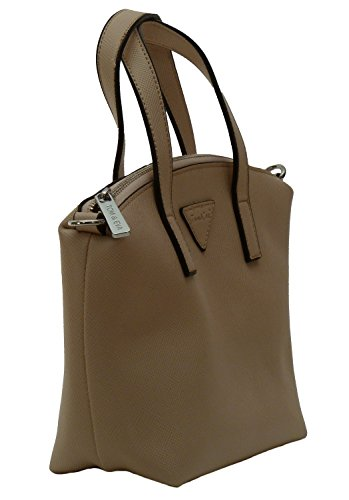 TE1020 - Samtlebe® - Mini Henkeltasche kleine Handtasche - Lederimitat in Beige