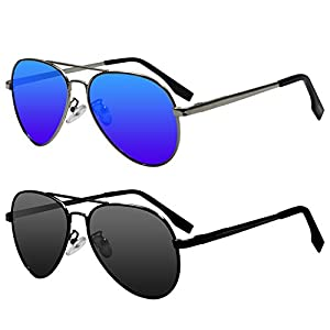 Kids Polarized Cat Eye or Aviator Sunglasses for Girls Boys Baby and Children Age 3 to 10,Pack of 2,100% UV Protection and Flexible Glasses