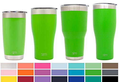 Simple Modern Tumbler Vacuum Insulated 30oz Cruiser with Lid - Double Walled Stainless Steel Travel Mug - Sweat Free Coffee Cup - Compare to Yeti and Contigo - Powder Coated Flask - Candy Apple Green