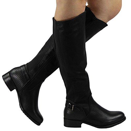 Loud Look - botas de media caña mujer Negro - negro
