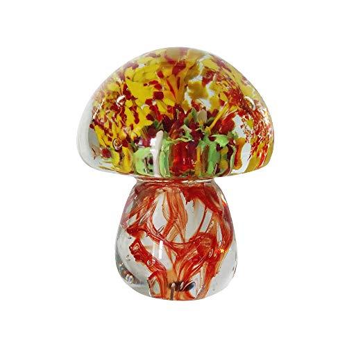 Kinetic Glass Beautiful Art Glass Red Mushroom Paperweights 89333