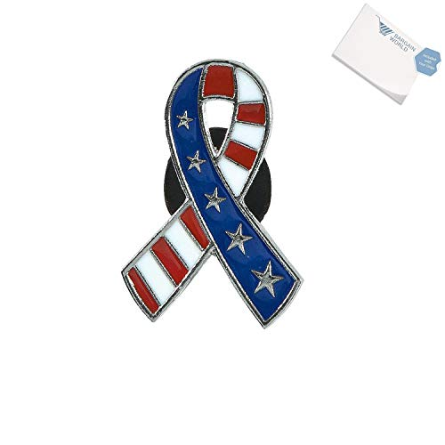 Bargain World Patriotic Ribbon Pins (With Sticky Notes) ()