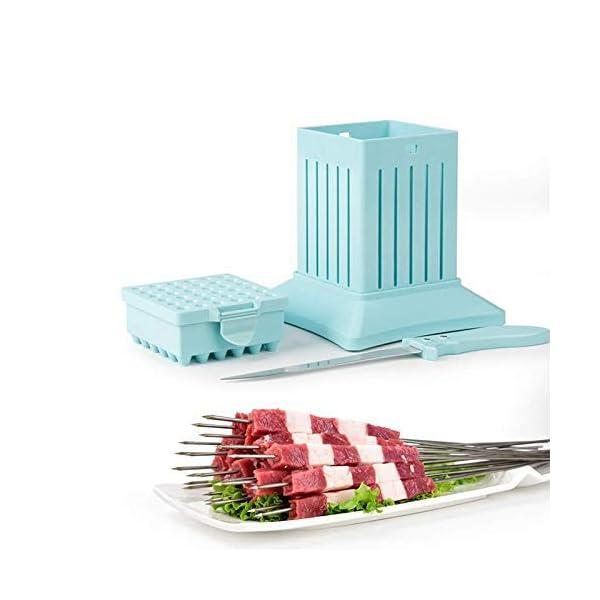 JNT- 36 Holes Carne Spiedino Kebab Maker Box macchina carne di manzo Cuber Maker Grill Barbecue Cucina Accessori… 1 spesavip