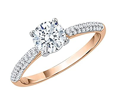 894c81ca08e KATARINA Diamond Solitaire Engagement Ring in 14K Rose Gold (1 1 4 cttw