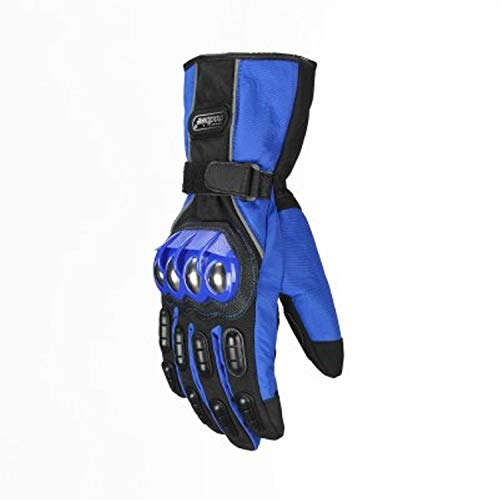 Roman Vic Alloy Steel Madbike Motorcycle Full Finger Gloves Touch Screen Windproof Waterproof Racing Guantes Motorbike Luvas Motosiklet Eldiveni Os carros Eletricos Outdoor Sports Gloves (Blue, XXL)