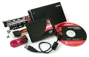 Kingston SSDNow Intel X25-M Series 80 GB SATA 3GB/s 2.5-Inch Solid State Drive with Desktop Upgrade Kit Bundle SNM225-X2B/80GB