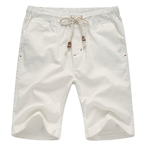 Aiyino Men's Linen Casual Classic Fit Short Large - Linen Fashion