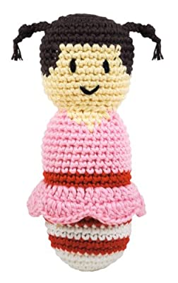 Dandelion Hand Crocheted Rattle