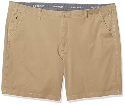 Dockers Men's Big and Tall Big & Tall Smart 360 Flex Short, New British Khaki, 58