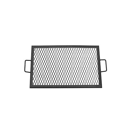 Sunnydaze X-Marks Fire Pit Cooking Grill Grate, Outdoor Rectangle BBQ Campfire Grill, Camping Cookware, 24 Inch