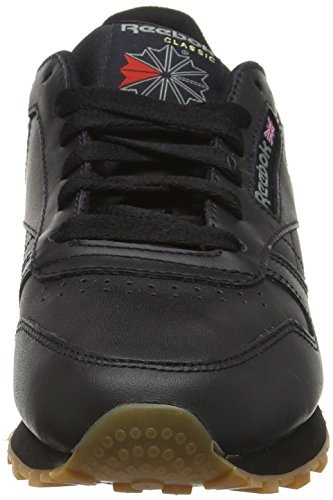 Basses Reebok Baskets gum Classic Femme black Leather Noir qq1Fwx4t