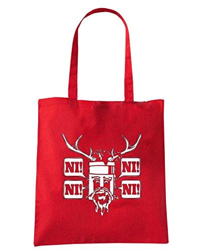 T-Shirtshock - Bolsa para la compra FUN0005 01 05 2013 Knights Ni T SHIRT det Rojo