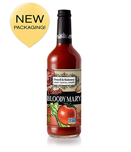 Powell & Mahoney Craft Cocktail Mixers, Classic Bloody Mary, Non Alcoholic, 750ml